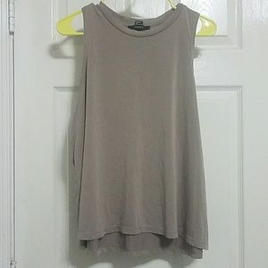 Forever21 taupe soft swing tank top